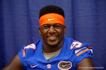 Florida Gators defensive lineman Bryan Cox, Jr. smiles for the camera during the 2015 Florida Gators Fan Day.  August 15th, 2015.  Gator Country Photo by David Bowie.