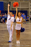 The Florida cheerleaders perform during the 2015 Florida Gators Fan Day.  August 15th, 2015.  Gator Country Photo by David Bowie.