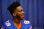 Florida Gators wide receiver Alvin Bailey smiles during the 2015 Florida Gators Fan Day.  August 15th, 2015.  Gator Country Photo by David Bowie.