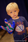 A young Gators fan poses for the camera during the 2015 Florida Gators Fan Day.  August 15th, 2015.  Gator Country Photo by David Bowie.