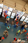 Fans enter the Stephen C. O'Connell Center for the 2015 Florida Gators football Fan Day.  August 15th, 2015.  Gator Country Photo by David Bowie.