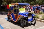 A customized Florida Gators car during the Florida Gators 2015 football Fan Day.  August 15th, 2015.  Gator Country Photo by David Bowie.