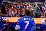 Florida Gators quarterback Will Grier during the 2015 Florida Gators Fan Day.  August 15th, 2015.  Gator Country Photo by David Bowie.