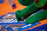 Albert signs a poster as the Florida Gators sign posters and take photos with the fans at the 2015 Florida Gators Fan Day.  August 15th, 2015.  Gator Country Photo by David Bowie.