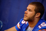 Florida Gators quarterback Jacob Guy during the 2015 Florida Gators Fan Day.  August 15th, 2015.  Gator Country Photo by David Bowie.