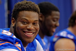 Florida Gators offensive lineman Antonio Riles smiles for the camera during the 2015 Florida Gators Fan Day.  August 15th, 2015.  Gator Country Photo by David Bowie.