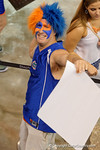A Gators fan poses for the camera during the 2015 Florida Gators Fan Day.  August 15th, 2015.  Gator Country Photo by David Bowie.