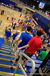 Fans walk down the stairs to the court to get in line to meet the Florida Gators during Fan Day.  August 15th, 2015.  Gator Country Photo by David Bowie.