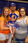 Fans pose as the Florida Gators sign posters and take photos at the 2015 Florida Gators Fan Day.  August 15th, 2015.  Gator Country Photo by David Bowie.