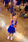 A young Gators fan cheers into the camera during the 2015 Florida Gators Fan Day.  August 15th, 2015.  Gator Country Photo by David Bowie.