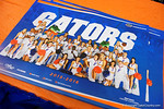 The Florida Gators cheerleader poster at the 2015 Florida Gators Fan Day.  August 15th, 2015.  Gator Country Photo by David Bowie.