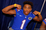 Florida Gators defensive back Vernon Hargreaves, III poses for the camera during the 2015 Florida Gators Fan Day.  August 15th, 2015.  Gator Country Photo by David Bowie.