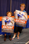 Two young Gator fans show off their signed posters during the 2015 Florida Gators Fan Day.  August 15th, 2015.  Gator Country Photo by David Bowie.