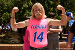 Fans wait to enter the Stephen C. O'Connell Center for the start of the 2015 Florida Gators football Fan Day.  August 15th, 2015.  Gator Country Photo by David Bowie.