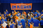 Fans wait in line to get the chance to meet the new FLorida Gators head coach, Jim McElwain at the 2015 Florida Gators Fan Day.  August 15th, 2015.  Gator Country Photo by David Bowie.