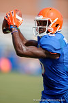 Florida Gators wide receiver Ahmad Fulwood makes the catch over Florida Gators defensive back Michael Iorio as the Gators continue fall practice.  August 8th, 2015.  Gator Country Photo.