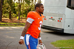 Florida Gators quarterback Treon Harris as the Gators walk off the buses and onto the Dizney Lacrosse Field for practice.  August 8th, 2015.  Gator Country Photo.
