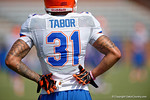 Florida Gators defensive back Jalen Tabor as the Gators continue fall practice.  August 8th, 2015.  Gator Country Photo.