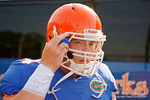 Florida Gators offensive lineman Tyler Jordan as the Gators walk off the buses and onto the Dizney Lacrosse Field for practice.  August 8th, 2015.  Gator Country Photo.