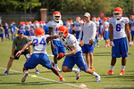 Florida Gators defensive back Jalen Tabor sprints past Florida Gators defensive back Brian Poole during a blocking drill as the Gators continue fall practice.  August 8th, 2015.  Gator Country Photo.