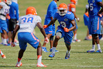 Florida Gators wide receiver Latroy Pittman sprints upfield as the Gators continue fall practice.  August 8th, 2015.  Gator Country Photo.
