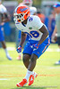 Florida Gators defensive back Kerol Francois drops into coverage during the third spring football practice. Florida Gators Third Spring Practice.  March 20th, 2016. Gator Country photo by David Bowie.