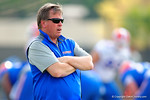 Florida Gators head coach Jim McElwain watches on as the Gators run through their third spring practice.  Florida Gators Third Spring Practice.  March 20th, 2016. Gator Country photo by David Bowie.