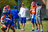 Florida Gators offensive coordinator and quarterbacks coach Doug Nussmeier working with the quarterbacks.  Florida Gators Third Spring Practice.  March 20th, 2016. Gator Country photo by David Bowie.