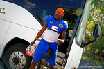 Florida Gators wide receiver Ahmad Fulwood steps off the bus and walks toward the practice field.  Florida Gators Third Spring Practice.  March 20th, 2016. Gator Country photo by David Bowie.
