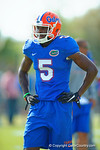 Florida Gators wide receiver Ahmad Fulwood catches some wind while he waits for his turn in a spring practice drill.  Florida Gators Third Spring Practice.  March 20th, 2016. Gator Country photo by David Bowie.