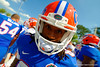 Florida Gators wide receiver Chris Thompson poses for the camera as he walks toward the practice field.  Florida Gators Third Spring Practice.  March 20th, 2016. Gator Country photo by David Bowie.