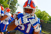 Florida Gators offensive lineman Antonio Riles poses for the camera as he walks toward the practice field.  Florida Gators Third Spring Practice.  March 20th, 2016. Gator Country photo by David Bowie.