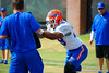 Florida Gators linebacker Jeremi Powell working through practice drills.  Florida Gators Third Spring Practice.  March 20th, 2016. Gator Country photo by David Bowie.
