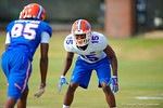 Florida Gators defensive back Deiondre Porter covering Florida Gators wide receiver Chris Thompson.  Florida Gators Third Spring Practice.  March 20th, 2016. Gator Country photo by David Bowie.