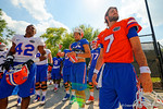 Florida Gators quarterback Will Grier and Florida Gators defensive back Keanu Neal pose for the camera before entering practice.  Florida Gators Third Spring Practice.  March 20th, 2016. Gator Country photo by David Bowie.