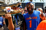 The Florida Gators walk into EverBank Field for their date with the Georgia Bulldogs as Gator fans cheer them on.  October 31st, 2015. Gator Country photo by David Bowie.