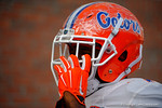 The Florida Gators helmets are covered in a wrap for practice.  August 27th, 2015.  Gator Country Photo by David Bowie.