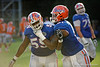 Florida Gators offensive linemen T.J. McCoy and Antonio Riles during the Florida Gators open practice.  August 27th, 2015.  Gator Country Photo by David Bowie.