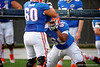 Florida Gators offensive lineman Zach Shinn and Florida Gators offensvie lineman Nick Davis during the Florida Gators open practice.  August 27th, 2015.  Gator Country Photo by David Bowie.
