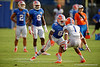 Florida Gators wide receiver Antonio Callaway sprints downfield while being covered by Florida Gators defensive back Vernon Hargreaves, III during the Florida Gators open practice.  August 27th, 2015.  Gator Country Photo by David Bowie.