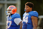Florida Gators offensive lineman Fred Johnson during the Florida Gators open practice.  August 27th, 2015.  Gator Country Photo by David Bowie.