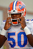 Florida Gators freshman linebacker Darius Singletary walks up to the practice field for fall practice.  August 27th, 2015.  Gator Country Photo by David Bowie.