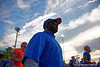 Florida Gators running backs coach Tim Skipper during the Florida Gators open practice.  August 27th, 2015.  Gator Country Photo by David Bowie.