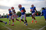 The Florida Gators warm up during the Florida Gators open practice.  August 27th, 2015.  Gator Country Photo by David Bowie.