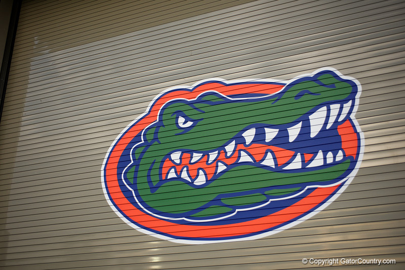 One of the outer bay doors leading into the in-door football practice field.  August 27th, 2015.  Gator Country Photo by David Bowie.