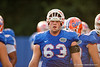 Florida Gators offensive lineman Trip Thurman during the Florida Gators open practice.  August 27th, 2015.  Gator Country Photo by David Bowie.