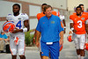 Florida Gators head coach Jim McElwain and the Gators walk up to the practice field for fall practice.  August 27th, 2015.  Gator Country Photo by David Bowie.
