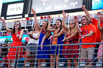 Florida fans cheer on their team during the first half, as the Gators spook the Georgia Bulldogs with a 27-3 win at EverBank Field.  October 31st, 2015. Gator Country photo by David Bowie.