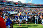 The Florida Gators come out of the tunnel and prepare to take the field as the Gators spook the Georgia Bulldogs with a 27-3 win at EverBank Field.  October 31st, 2015. Gator Country photo by David Bowie.