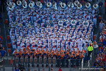 The University of Florida band plays on during the first half as the Gators spook the Georgia Bulldogs with a 27-3 win at EverBank Field.  October 31st, 2015. Gator Country photo by David Bowie.